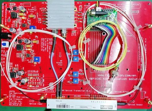 单偏振IQ/QPSK/QAM光发射机评估板 兼容CS-SSB单边带载波抑制