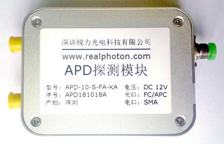 10G速率 APD-TIA探测器, 探测接收模块, 覆盖C, L & O波段
