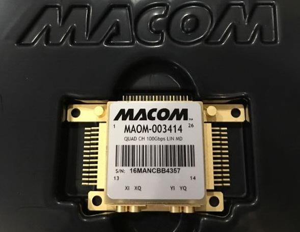 200G速率 MACOM四输入铌酸锂驱动器 MAOM-003414 线性射频功放